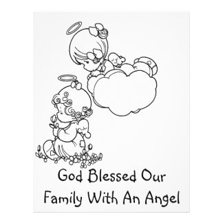 "Angel Tots - Birth Announcement 8.5"" X 11"" Flyer"