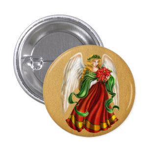 Ángel tradicional del navidad chapa redonda 2,5 cm