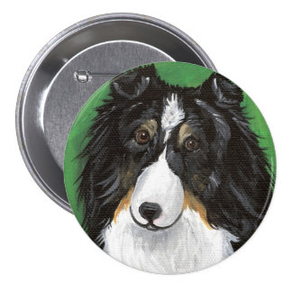 Angel Tri Color Sheltie by Amy Bolin Button