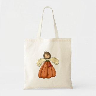 ángel trigueno de la calabaza bolsa tela barata