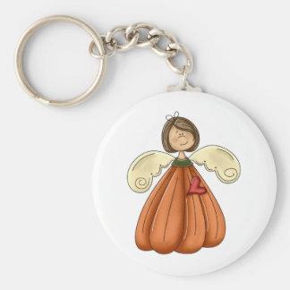 ángel trigueno de la calabaza llavero redondo tipo pin