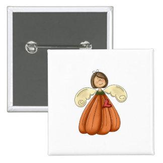 ángel trigueno de la calabaza pin cuadrada 5 cm