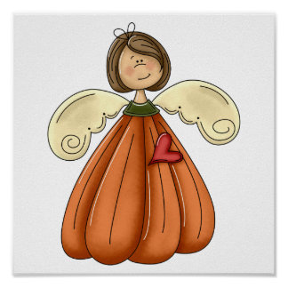ángel trigueno de la calabaza póster