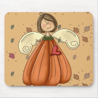 ángel trigueno de la calabaza tapetes de ratón