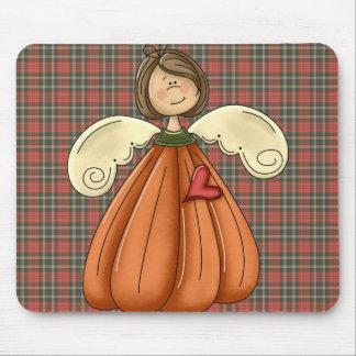 ángel trigueno de la calabaza tapetes de ratones