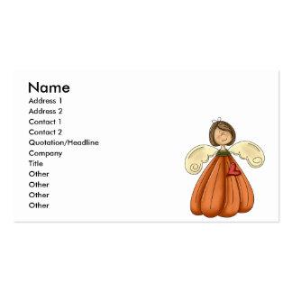 ángel trigueno de la calabaza tarjetas de visita