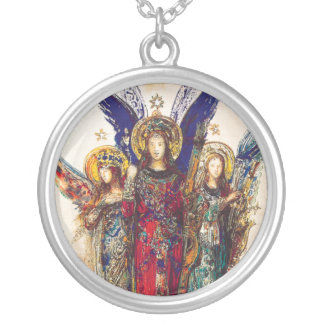 Angel Trio Sterling Silver Necklace