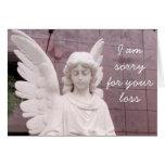 Ángel triste tarjeton