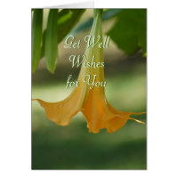 Angel Trumpet Greeting-customize any occasion Cards