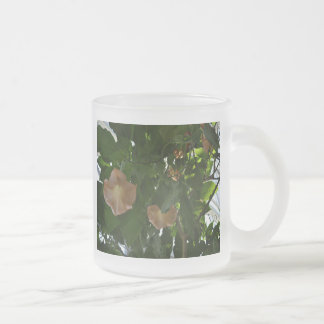 Angel Trumpets Frosted Glass Coffee Mug