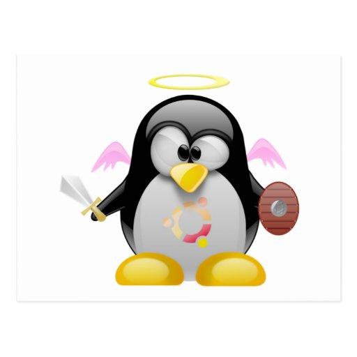 Ángel Tux de Ubuntu Tarjeta Postal