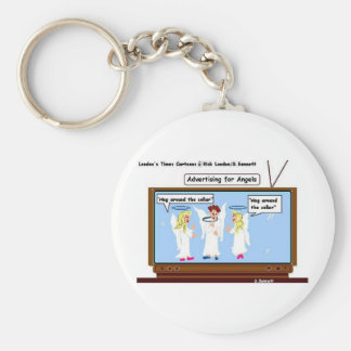 Angel TV Advertising Funny Gifts & Tees Basic Round Button Keychain