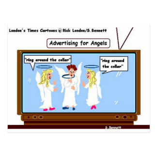 Angel TV Advertising Funny Gifts & Tees Post Cards