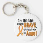 Angel Uncle Leukemia Key Chain