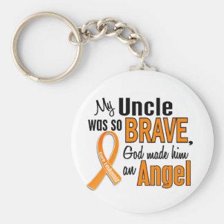 Angel Uncle Leukemia Keychain