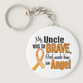 Angel Uncle Leukemia Keychain