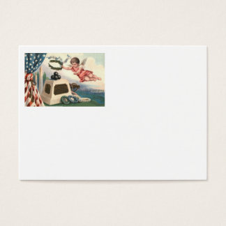 Angel US Flag Obelisk Cannon Ball Monument Business Card