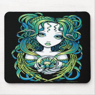 """Ángel verde Mousepad del agua de """"Kallan"""" Lotus"""