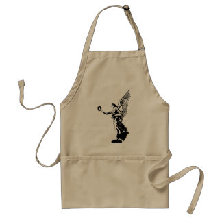 Angel victory solid, black by christianstores. adult apron