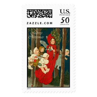 Angel Vintage Christmas Stamps