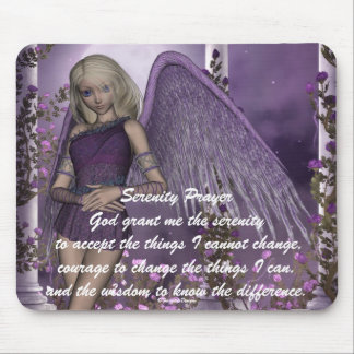 Angel Violet Charms Mousepad