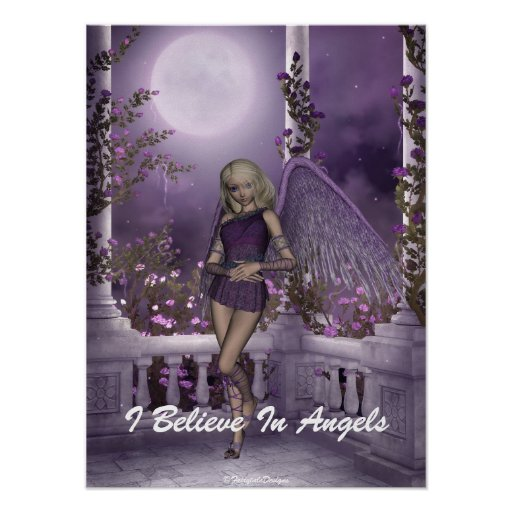 Angel Violet Charms Poster