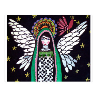 Angel Virgin of Guadalupe Art by Heather Galler Postcard