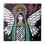 "Angel Virgin of Guadalupe Art by Heather Galler Tile<br><div class=""desc"">Angel Virgin of Guadalupe by Heather Galler</div>"