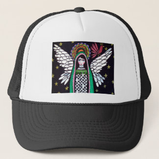 Angel Virgin of Guadalupe Art by Heather Galler Trucker Hat