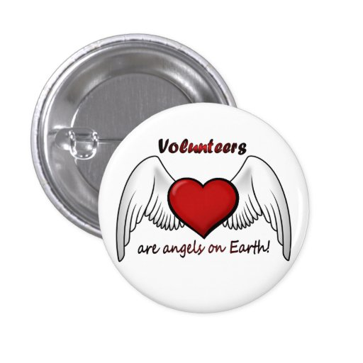 Angel Volunteers Button