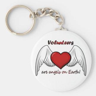 Angel Volunteers Keychain