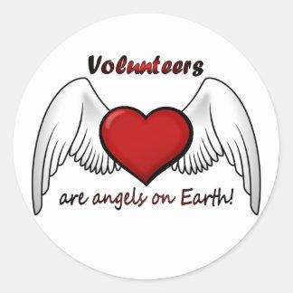 Angel Volunteers Stickers
