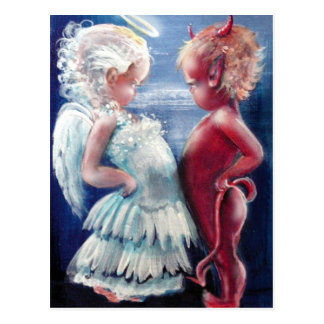 Angel VS Devil Postcard