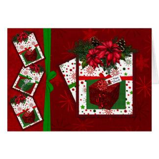 Angel vs Santa Greeting Card