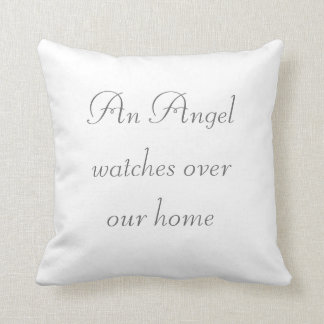 Angel Watches Home Throw Pillow