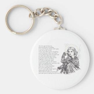 Angel Watching.jpg Basic Round Button Keychain