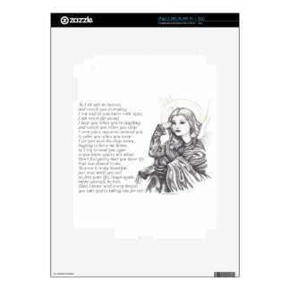 Angel Watching.jpg Decal For iPad 2