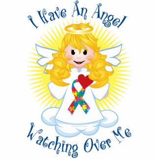 Angel Watching Over Me Autism Standing Photo Sculpture