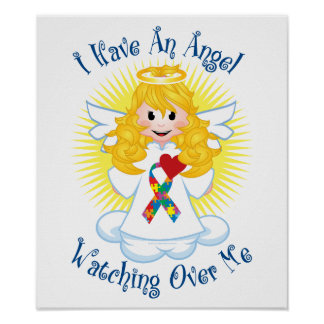 Angel Watching Over Me Autism Print