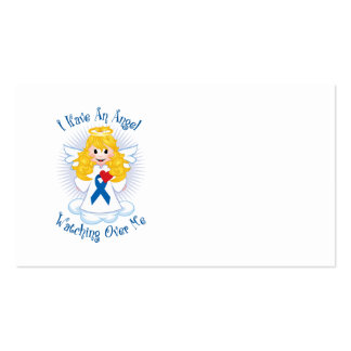 Angel Watching Over Me Blue Ribbon Business Cards