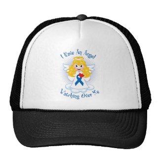 Angel Watching Over Me Blue Ribbon Mesh Hats