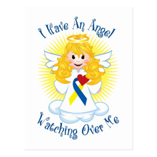 Angel Watching Over Me Down Syndrome Postcard