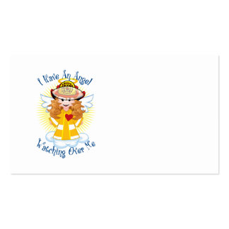 Angel Watching Over Me Firefighter Business Card Templates