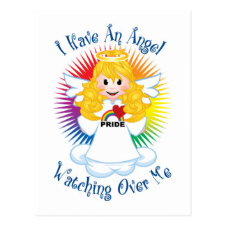 Angel Watching Over Me LGBTQ Postcard