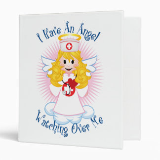 Angel Watching Over Me Nurse 3 Ring Binder
