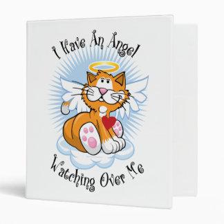 Angel Watching Over Me Orange Cat Vinyl Binders
