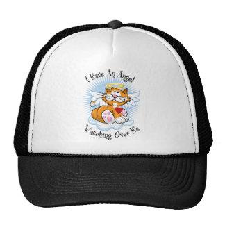 Angel Watching Over Me Orange Cat Hats
