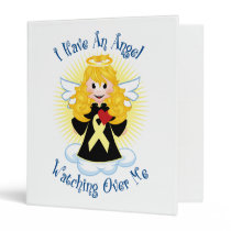 Angel Watching Over Me Pale Yellow Ribbon 3 Ring Binder