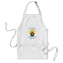 Angel Watching Over Me Pale Yellow Ribbon Adult Apron