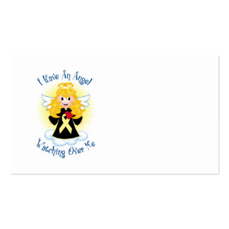 Angel Watching Over Me Pale Yellow Ribbon Business Cards